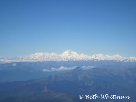 View of Himalayas Coming Into Bhutan