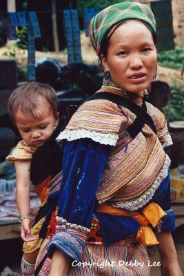 Flower Hmong Mom Baby 2