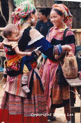 Flower Hmong Mom Baby 3