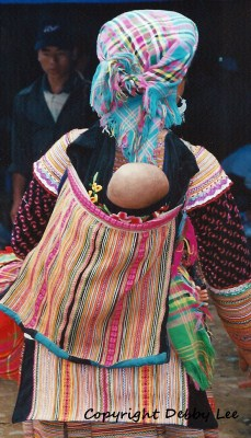Flower Hmong Mom Baby 5