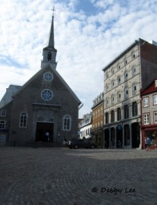 Old Quebec Cobblestone And Church