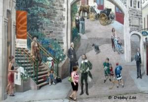 Quebec City Mural Closeup