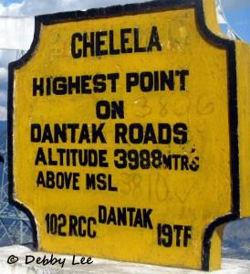 Chelela Pass Sign Bhutan