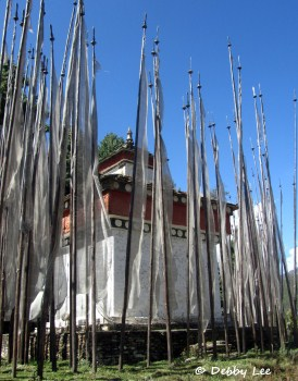 Bhutan Prayer Flags Chorten