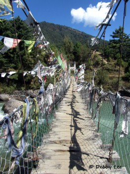 Lungta Prayer Flags Bridge Bhutan