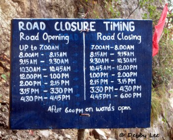 Road Closure Sign Bhutan