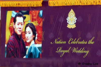 Royal Wedding Sign Bhutan