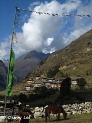 Laya Bhutan Masang Gang with Prayer Flags