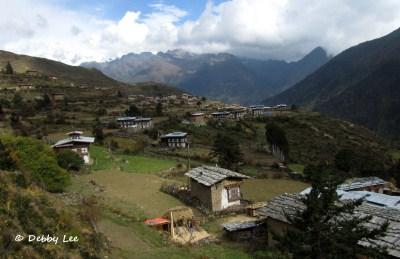 Laya Bhutan Tsenda Gang from Above