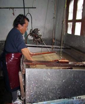 Bhutanese Handmade Paper Screen1