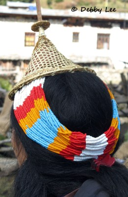 Bhutan Laya Women Conical Hat
