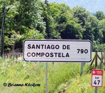 Santiago de Compostela 790km