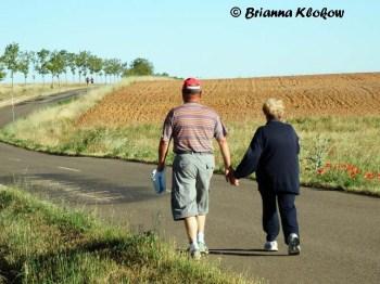 El Camino de Santiago Holding Hands