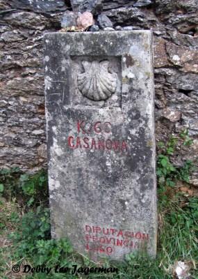 Camino de Santiago Scallop Shells Cement Marker