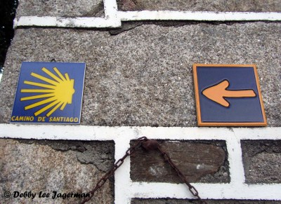Camino de Santiago Scallop Shells Yellow Arrow