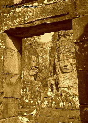 Cambodia Angkor Thom Bayon Smiling Faces