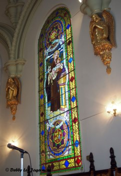 Saint Laurent Church Stained Glass Window Ile d'Orleans