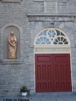 Sainte Famille Church Door Ile d'Orleans