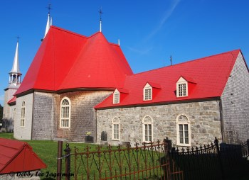 Sainte Famille Church Side Ile d'Orleans