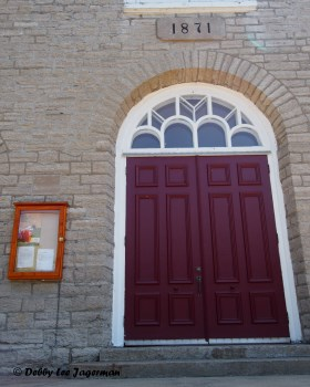 Sainte Petronille Church Door Ile d'Orleans