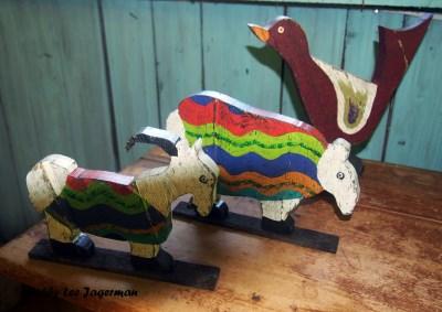 A l'Ombre du Vent Ile d'Orleans Recycled Folk Art