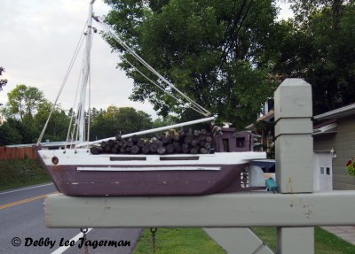Ile d'Orleans Mailboxes Boat
