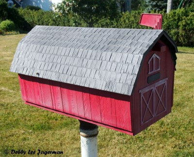 Ile d'Orleans Mailboxes Red Barn
