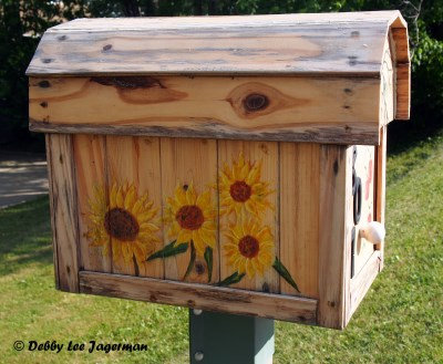 Ile d'Orleans Mailboxes Sunflowers