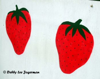 Strawberries Two Sign Ile d'Orleans