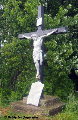 Ile d'Orleans Roadside Cross Metal In Memory