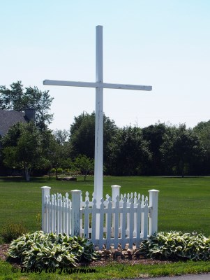 Ile d'Orleans Roadside Cross Picket Fence