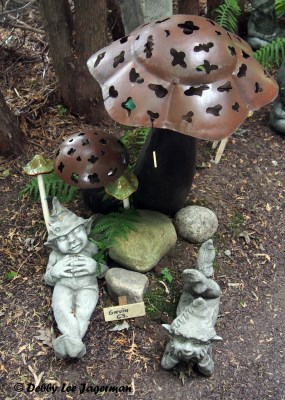 L'Art au Jardin Ile d'Orleans Elves and Mushrooms