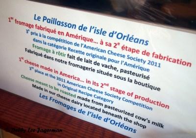 Les Fromages de l'Isle d'Orleans Second Stage