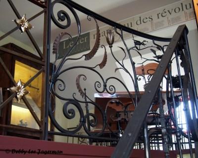La Forge a Pique Assaut Ile d'Orleans Blacksmith Guy Bel Staircase Railing