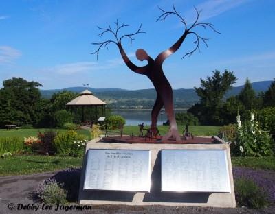 Le Memorial des Familles Souches Ile d'Orleans Blacksmith Guy Bel Sculpture