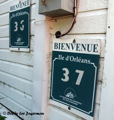 Ile d'Orleans Number Signs