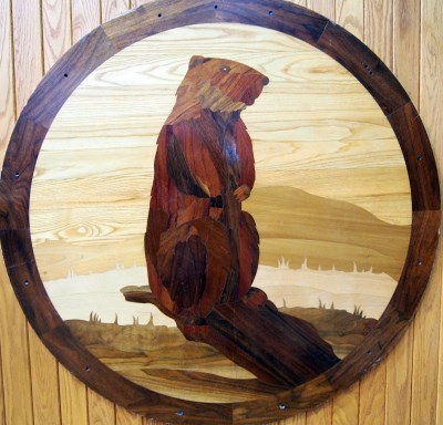 Groundhog Wood Carving Weather Center