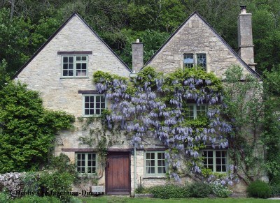 Cotswolds Homes Villages Honey Colored Cotswold Stone Wisteria