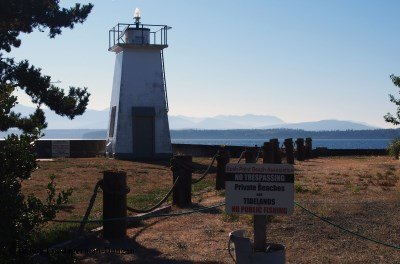 Bush Point Lighthouse No Trespassing