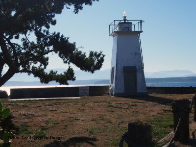 Bush Point Lighthouse Whidbey Island Washington