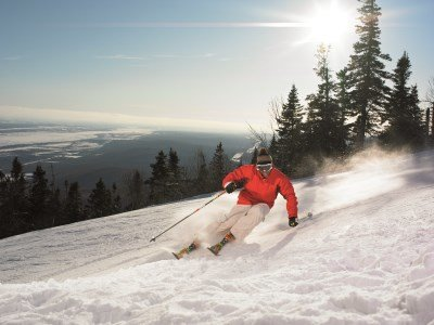 Skiing on Mont Sainte Anne