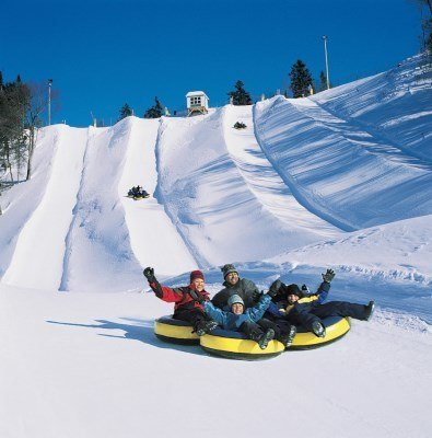 Snow Tubing at Village Vacances Valcartier