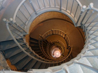 Grays Harbor Lighthouse 135 Steps Looking Down