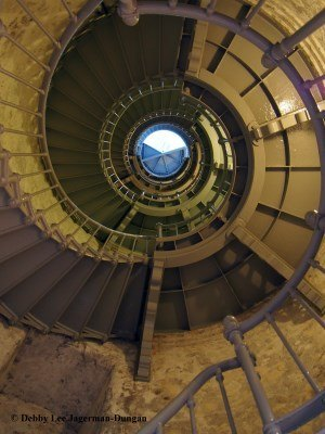 Westport Grays Harbor Lighthouse 135 Steps Looking Up