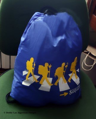 Camino de Santiago Beatles Blue Bag