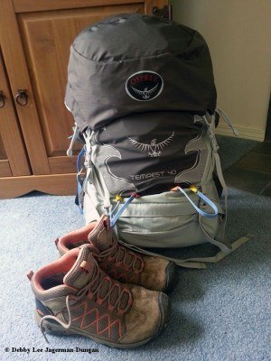 Camino de Santiago Hiking Boots Backpack