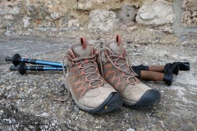 Camino de Santiago Hiking Boots Poles