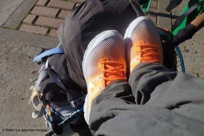 Camino de Santiago Orange Sneakers