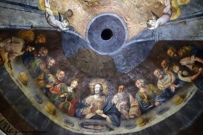 Camino de Santiago Church Dome Ceilings The Last Supper Fuentas Nuevas