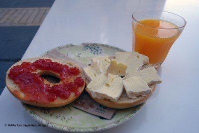 Camino de Santiago Food Bagels